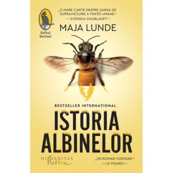 """""""Istoria albinelorva stârni interesul unui num&259;r foarte mare de cititori Lunde a scris un roman pe care mul&539;i îl vor citi dintr-o suflare dup&259; care se vor a&537;eza &537;i vor medita asupra vie&539;ii a lumii &537;i a viitorului O reu&537;it&259; total&259;"""" – Annette Orre littkritikkno""""Maja Lunde combin&259; imagina&539;ia &537;i cercetarea &537;tiin&539;ific&259; în acest roman care"""
