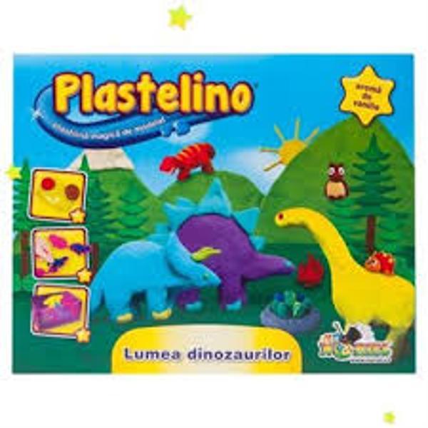 Bine ai venit in lumea lui Plastelino Acesta este locul magic in care poti sa-ti imaginezi sa creezi sa construiesti la nesfarsit Aventura imaginatiei tale incepe acum Seturile tematice Plastelino® contin plastilina de calitate cu aroma de vanilie si accesorii care ii permit copilului sa modeleze plastilina in cele mai trasnite si mai creative forme Daca iti place sa iti pui imaginatia la lucru in mod sigur Plastelino va fi preferatul tau pentru ca are o multime de instrumente