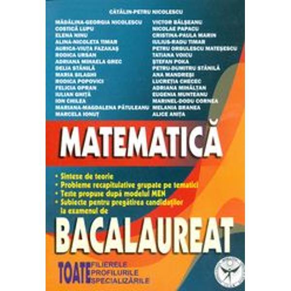 Bacalaureat matematica M2
