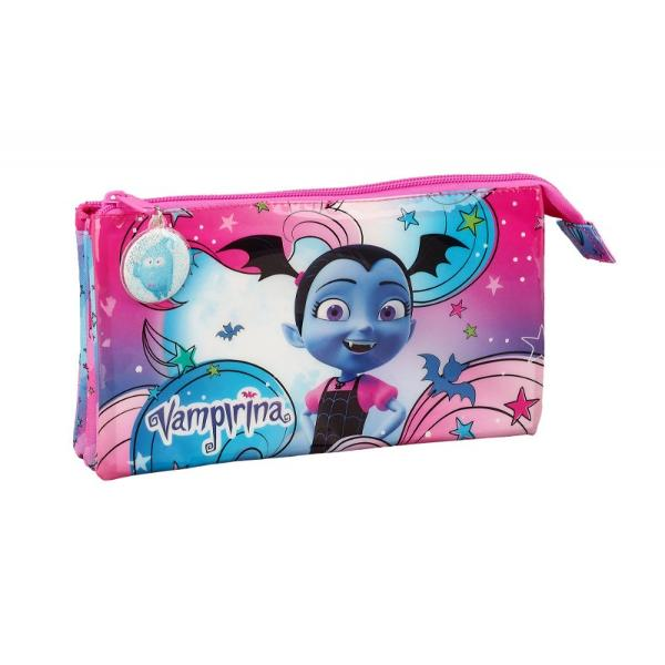 Penar triplu Vampirina 12cm - alege cele mai noi rechizite pentru micuta ta Vee aceasta vampirita dragalasa va fi adorata de orice fetita