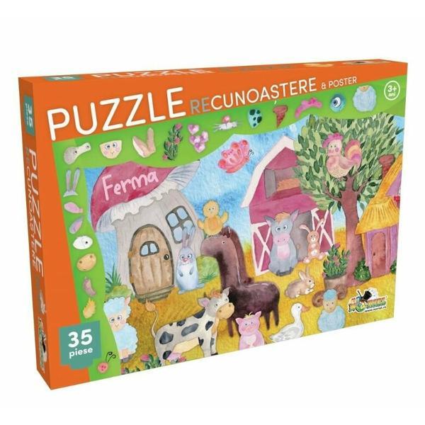 Esti invitat la joaca in ograda Dar ai grija pe unde calci pentru ca pe-aici misuna animale miciIntinde posterul pe masa asambleaza puzzle-ul deasupra lui iar apoi incearca sa gasesti in imagine elementele de pe marginea puzzle-uluiSetul contine- 1 x Puzzle cu 35 de piese;- 1 x PosterNumar piese 35 piese;Dimensiuni cutie 32 x 23 x 4 cm;Varsta recomandata 3 aniAtentie Nu