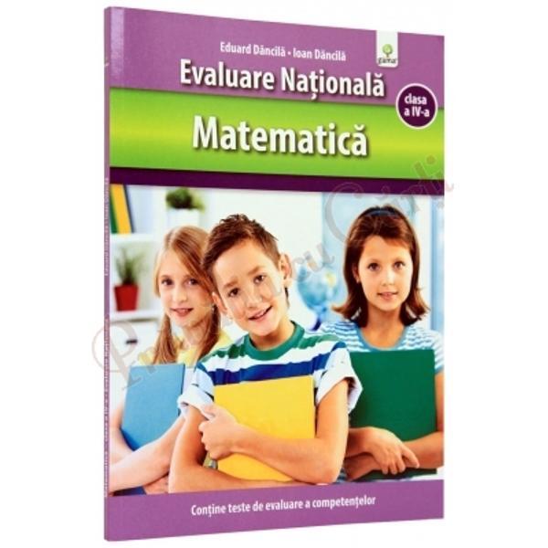 Gândit pentru a veni în sprijinul elevilor declasa a IV-acare urmeaz&259; s&259; sus&539;in&259;Evaluarea Na&539;ional&259; la Matematic&259; volumul î&537;i propune s&259;-i ajute pe p&259;rin&539;i copii &537;i cadre didactice deopotriv&259; s&259; afle m&259;sura în care fiecare &537;colar &537;i-a însu&537;it competen&539;ele corespunz&259;toare Cartea con&539;ine teste de evaluare