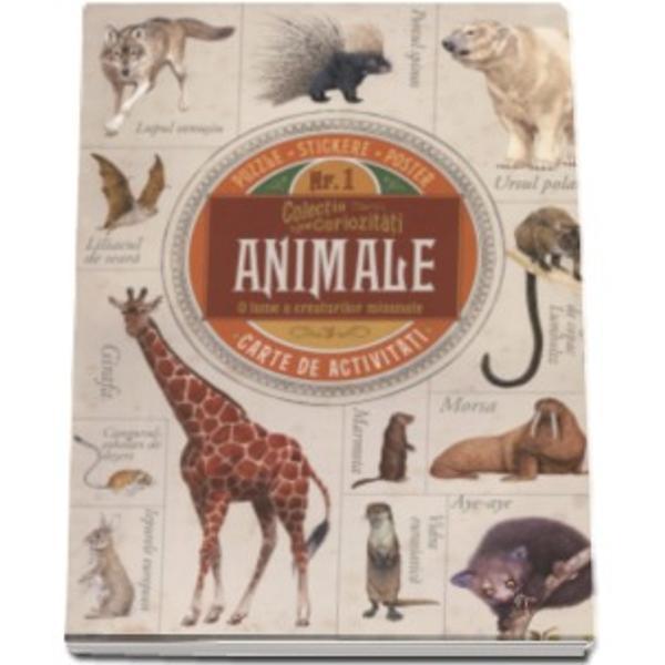 Descoperiti lumea minunata a animalelor in aceasta frumoasa carte ilustrata de activitati Plina de informatii minunate de puzzle-uri cu animale de stikere uimitoare si cu un poster ca sa va testati cunostintele despre animale Pregatiti-va sa explorati