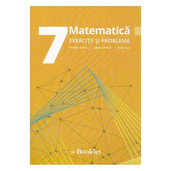 Matematica pentru clasa a VII-a EXERCITII SI PROBLEMEFiecare capitol trateaza o sectiune distincta a programei scolare si este impartit in subcapitole care corespund cate unei teme studiate la clasa facand astfel posibila o parcurgere sistematica a materieiFiecare tema prezinta o sinteza completa a teoriei insotita de exemple si demonstratii acolo unde este cazulPartea practica a fiecarei teme le propune