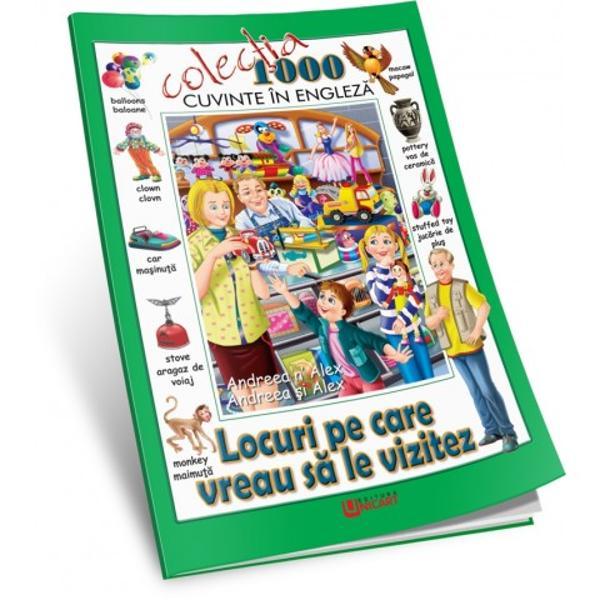 1000 De Cuvinte în Englez&259;Con&539;ine un mic dic&539;ionar de cuvinte ilustrate frumos care îi ajut&259; pe copii s&259; asocieze cuvintele cu obiectele din via&539;a de zi cu zi Andreea &537;i Alex dou&259; personaje încânt&259;toare îi înso&539;esc pe copii în c&259;l&259;toria lor dintr-o destina&539;ie plin&259; de culori într-alta Cuvintele din fiecare scen&259; îi vor ajuta pe copii s&259;-&537;i