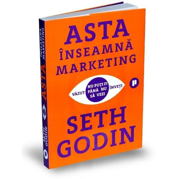 În ultimul sfert de secol Seth Godin a ghidat &537;i a inspirat milioane de antreprenori marketeri lideri &537;i fani din toate categoriile sociale prin intermediul blogului s&259;u al cursurilor online prelegerilor &537;i bestsellerurilor sale Este inventatorul a nenum&259;rate idei &537;i fraze care &537;i-au f&259;cut loc în limbajul comercial de lamarketingul pe baz&259; de permisiune la vaca mov triburisauhopuribr