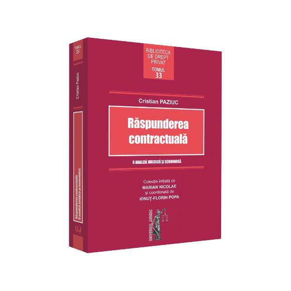 """""""In a doua parte a enun&539;ului sec&539;iunii 1 din primul titlu al lucrarii autorul i&537;i pune – de fapt pune – aparent pe buna dreptate intrebarea«De ce din nou despre raspunderea contractuala» Prin aceasta intrebare autorul deschide inse&537;i premisele abordarii actuale &537;i originale a materiei cercetate; aceasta deoarece el in&539;elege sa examineze tema raspunderii contractuale nu in sensul ei restrans de posibilitate"""