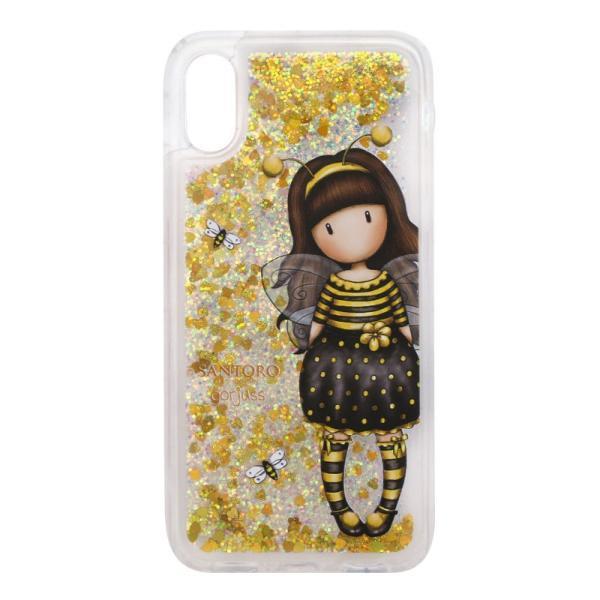 Husa iPhone XXS cu glitter Gorjuss Bee Loved&160;un mod delicat si foarte cool de a-ti pastra telefonul in siguranta Alege detalii sclipitoare pentru cele mai cool accesorii&160;Dimensiune husa 145x72x08&160;cm