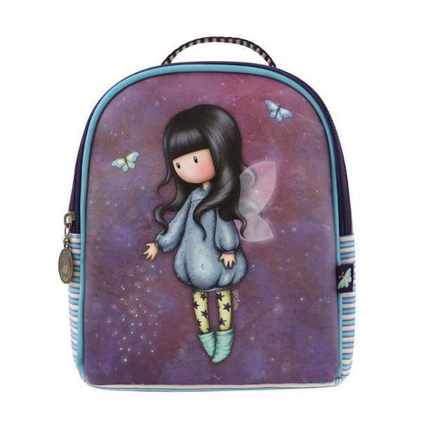 Rucsac mini Gorjuss Bubble Fairy un rucsac mic foarte elegant si in trend&160;Dimensiuni 22x20x10 cmBretele reglabile si manerInchidere fermoarMaterial exterior piele ecologicaMaterial interior poliester
