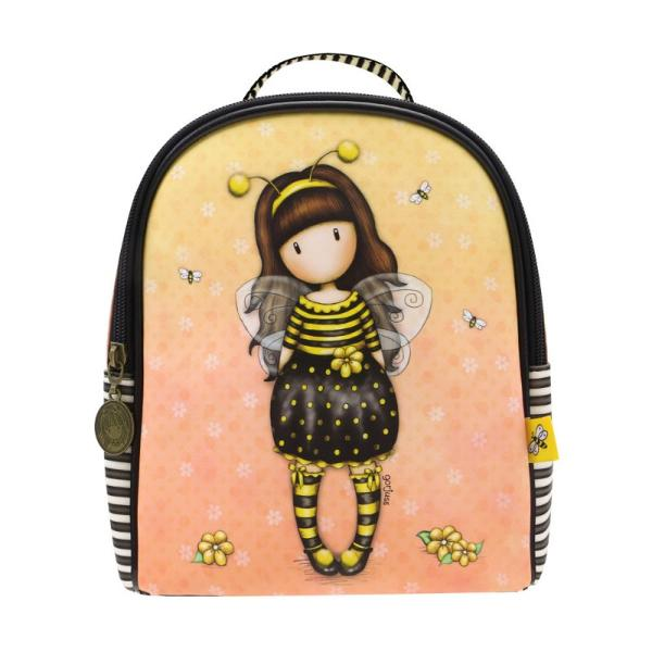 Rucsac mini Gorjuss Bee Loved un rucsac mic fashion foarte practic si in trend pentru micuta ta&160;Dimensiuni 22x20x10 cmBretele reglabile si manerInchidere fermoarMaterial exterior piele ecologicaMaterial interior poliester