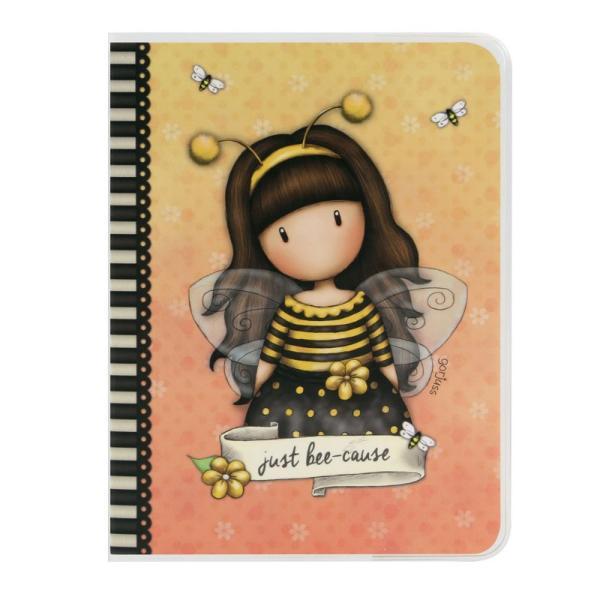 Caiet A6 Gorjuss Bee Loved un caiet practic cu cea mai noua fetita din gama Gorjuss Bee Loved o albinuta adorabila&160;Dimensiuni145x11x05