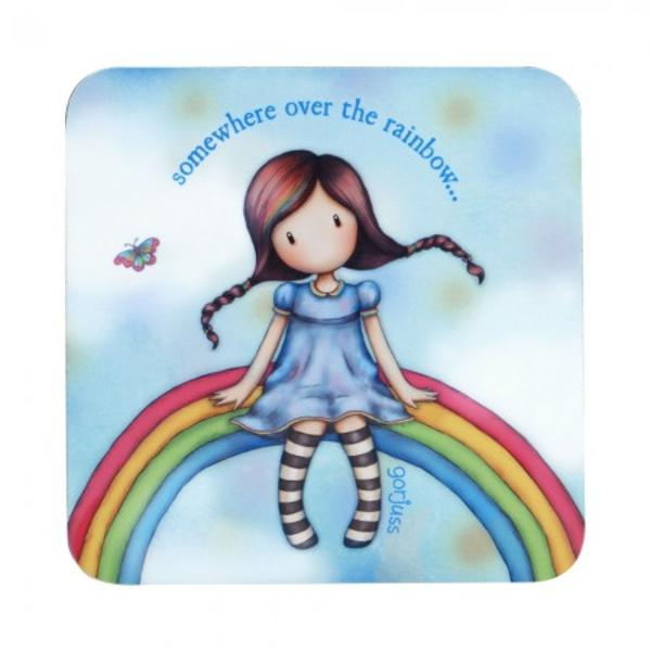 Suport pahar Gorjuss Rainbow Heaven un suport de pahar delicat pentru cele mai Gorjuss fetite&160;Material plutaDimensiuni 10x10x05 cm