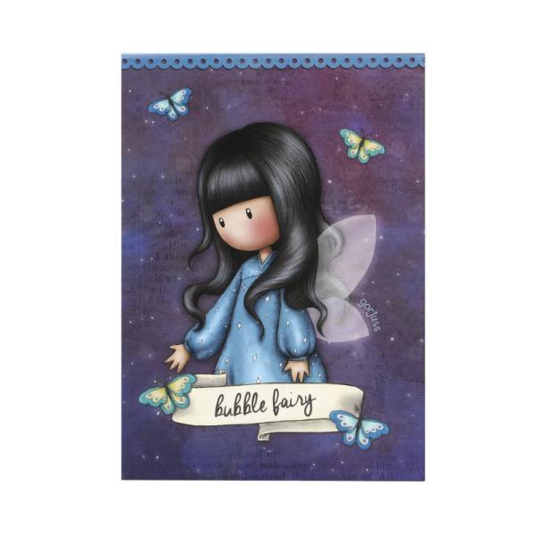 Bloc notes Gorjuss Bubble Fairy&160;un carnetel ideal pentru birou sau scoala Alege un mod ideal de a-ti nota cele mai rapide idei Carnetelul contine 250 de pagini cu liniatura dictando frumos decorate cu un fluturas delicat&160;Dimensiuni 125x9x3 cm