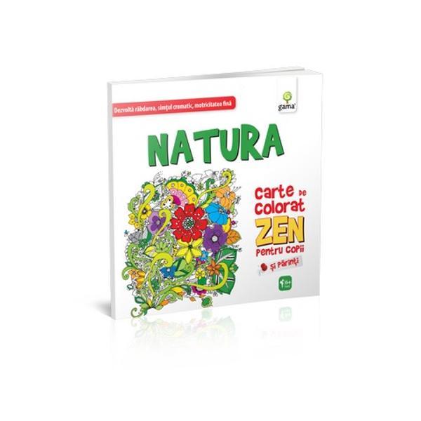Natura Carte de colorat ZEN pentru copii folose&351;te modelele inspirate din natur&259; &351;i simetria liniilor pentru a provoca imagina&355;ia copiilor &351;i a le stimula creativitatea &351;i sim&355;ul cromaticC&259;r&355;ile de colorat ZEN pentru copii se diferen&355;iaz&259; de cele obi&351;nuite prin simetriile liinilor &351;i bog&259;&355;ia detaliilor Beneficiile lor sunt multiple• Dezvolt&259; motricitatea