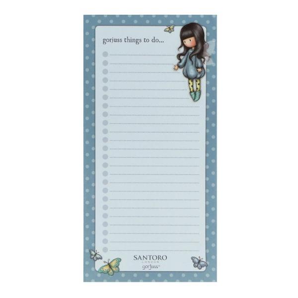 Bloc notes magnetic Gorjuss Bubble Fairy un carnetel perfect&160;pentru liste cu lucruri de realizat sau liste de cumparaturi Acest bloc notes este prevazut cu un suport magnetic si poate fi pus cu usurinta si pe frigiderDimensiuni 20x10x1 cm&160;Ideal pentru lista de cumparaturi sau to do listSpate magnetic