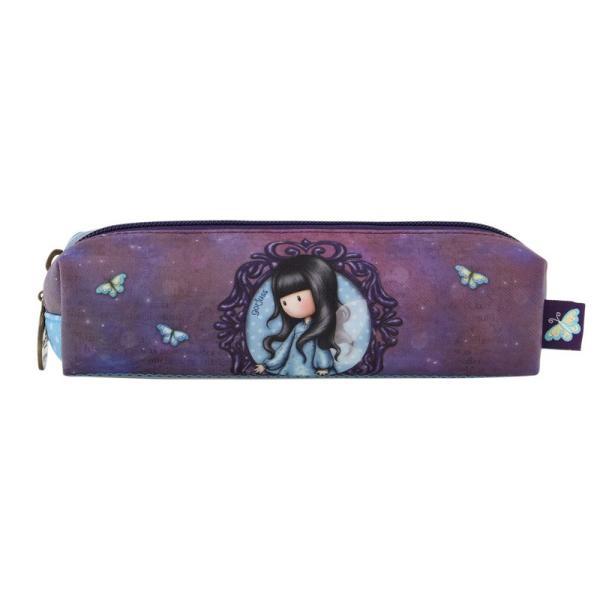 Pouch accesorii subtire Gorjuss Bubble Fairy&160;este un accesoriu foarte practic in depozitarea si transportarea obiectelor de mici dimensiuniDimensiuni 185x6x5 cmMaterial exterior piele ecologica