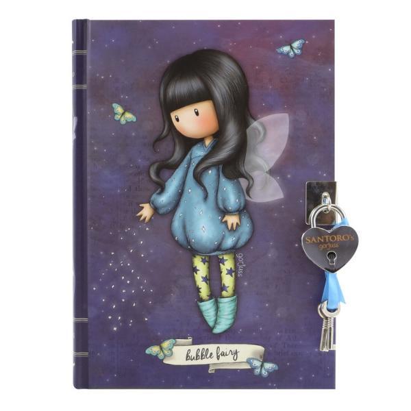 Jurnal cu cheita Gorjuss Bubble Fairy un mod magic de a-ti pastra toate ideile minunate Alege acest jurnal cu cheita pentru cele mai frumoase secrete din viata ta sau a micutei tale Jurnalul are 250 pagini liniate dictando cu decor de fluturas in partea de sus a foilor&160;