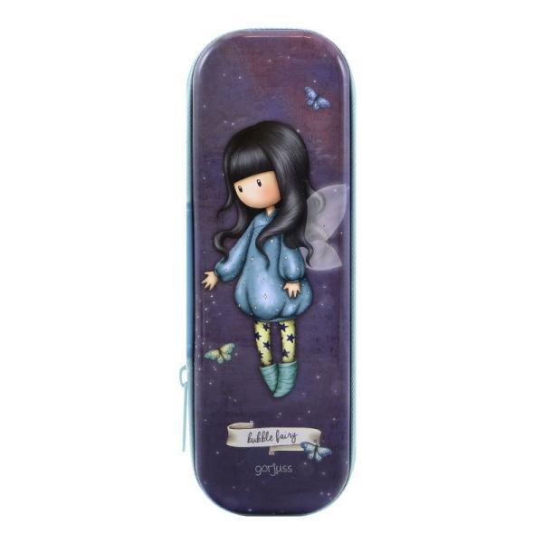 Cutie metalica cu fermoar Gorjuss Bubble Fairy un accesoriu inedit pentru tine sau micuta ta Poate fi utilizat precum penar sau etui&160;Dimensiuni 185 x 75 x 35 cmMaterial MetalSistem de inchidere cu fermoar bleu