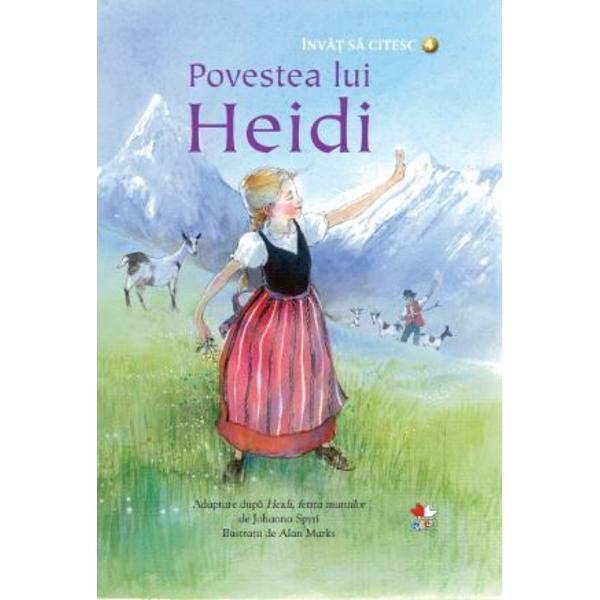 Lui Heidi &238;i place s&259; locuiasc&259; &238;mpreun&259; cu bunicul ei &238;ntr-o c&259;su&355;&259; s&259;r&259;c&259;cioas&259; din v&226;rful muntelui C&226;nd m&259;tu&537;a Dete vine s&259; o ia cu ea la ora&537; Heidi &238;&537;i promite c&259; nu-l va uita niciodat&259; pe bunicul &537;i c&259; &238;ntr-o bun&259; zi se va &238;ntoarce la el&160;&206;nv&259;&539; s&259; citesc este o colec&539;ie special creat&259; pentru a-i ajuta pe cei mai