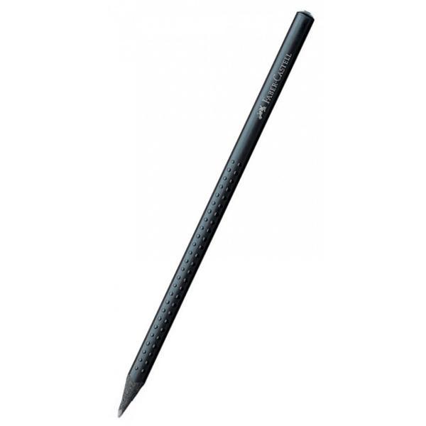Creion grafit de o calitate deosebita Lemn de culoare neagra Zona ergonomica triunghiulara cu puncte de masaj antialunecare GRIP Vopsea pe baza de apa pentru protejarea mediului inconjurator