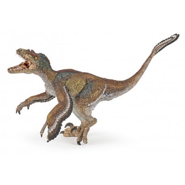Figurina Dinozaur Velociraptor cu penepoate fi o jucarie educationala pentru copii dar si o piesa de colectie pentru adultiJucaria nu contine substante toxiceDimensiune  19x10x7 cmVarsta 3