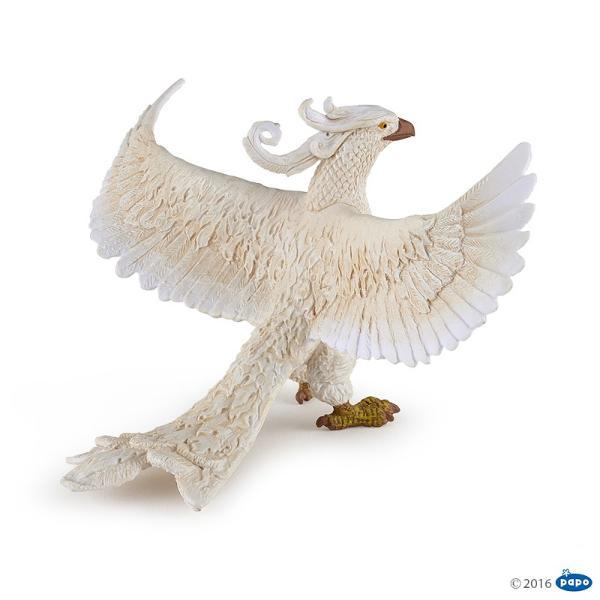 Pasarea Phoenix alba - Figurina PapoPasarea Phoenix alba - Figurina Papo este o jucarie realizata manual excelent pictata si poate fi colectionata de catre copii sau adaugata la seturile de joaca cum ar fi personaje de basm si legendaetcDimensiune 12x9x68 cm