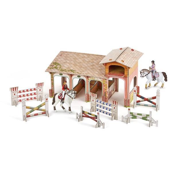 Figurina Papo - Set Poney club-boxa carton4 figurineJucarie educationala realizata manual excelent pictata si poate fi colectionata de catre copii sau adaugata la seturile de joaca cum ar fi dragoni mutanti etc