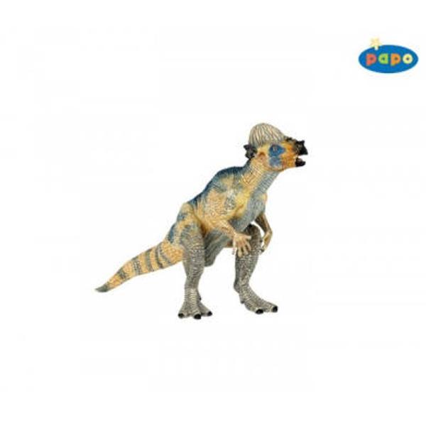 Figurina Papo -Pachycephalosaurus 14x9 cmJucarie educationala realizata manual excelent pictata si poate fi colectionata de catre copii sau adaugata la seturile de joacaUn excelent stimulent pentru a extinde imaginatia copiilor dezvoltand multe oportunitati de joacaNu contine substante toxiceL 14cm x H 9cmVarsta 3 aniAsemeni tuturor figurinelor Papo Velociraptor face parte din colectia de figurine preistorice este pictat manual vopselurile folosite respecta standardele europene de