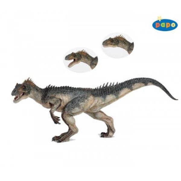 Dimensiuni Lx l x h&160; 26 x 5 x 11cmAsemeni tuturor jucariilor Papo&160;Allosaurus&160;face parte din colectia de figurine preistorice&160;are mandibula mobila este pictat manual vopselurile folosite respecta standardele europene de siguranta ceea ce conduce la o calitate inalta a produsului si reda incredibil pana la cele mai mici detalii modelul real asigurandu-le un loc aparte intre jucariile de acest gen Intreaga colectie de dinozauri reuseste sa readuca la viata timpurile