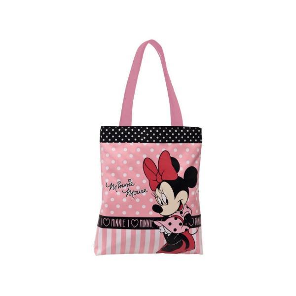 Geanta de umar Disney Minnie and You material poliester dimensiune 38 cm 1 compartiment bareta ajustabila de cca 90 cm imprimeu cu personajul Minnie din desenul animat