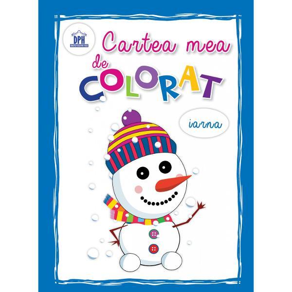 Carte de colorat - iarna