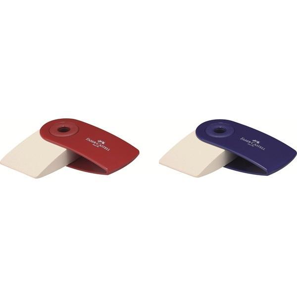 Forma ergonomica Capacul mobil de plastic protejeaza radiera impotriva murdariei Pentru creioane grafit PVC-free Culoarea capacului rosu albastru negru
