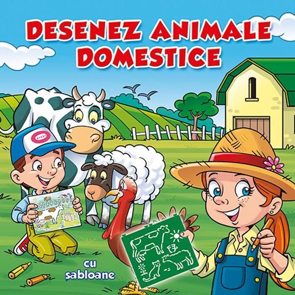 Imagineaz&259;-&355;i o poveste cu animale domestice desenate cu ajutorul &537;abloanelor din aceast&259; carteDac&259; vei completa &537;i colora cele 32 de scene vei p&259;&537;i în lumea minunat&259; a animalelor domestice