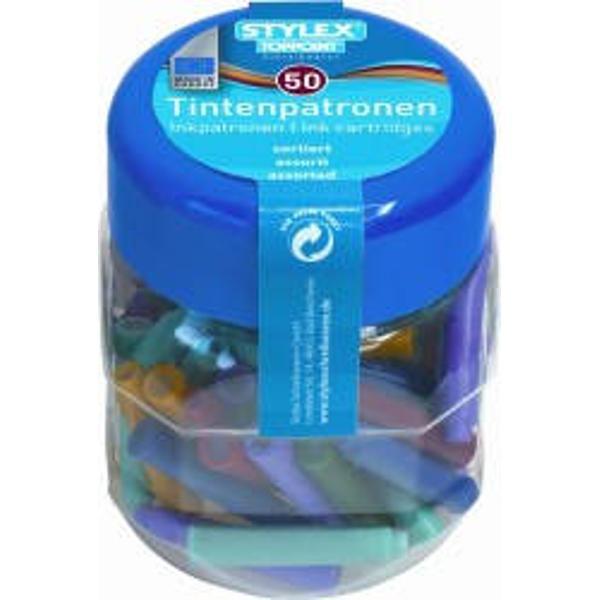 Patroane cerneala diverse culori-50 bucborcanCuloare diverse Ambalaj borcan din plasticProdus de Toppoint-Germania