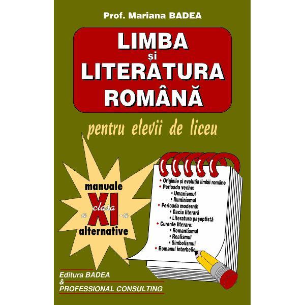 Limba romana clasa a XI-a