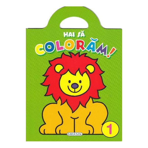 Carticica 1 din seriaHai sa coloramcontine ilustratii mari cu contur precis si gros pentru a fi usor de colorat si de cei mai mici In plus fiecare ilustratie este insotita de un desen gata colorat pentru a sugera nuantele in care poate fi colorata imaginea