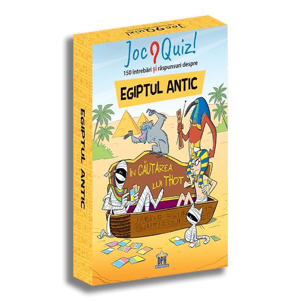 Cine erau faraonii Cum au fost construite piramidele Cine a fost prima mumie Cum se citesc hieroglifele 75 de jetoane 150 de întreb&259;ri &537;i r&259;spunsuri Provoac&259;-&539;i prietenii &537;i descoperi&539;i împreun&259; misterele De la 8 la 99 ani  Specifica&539;ii Pagini 152 M&259;rimi 10 x 14 cm Copert&259; Cutie