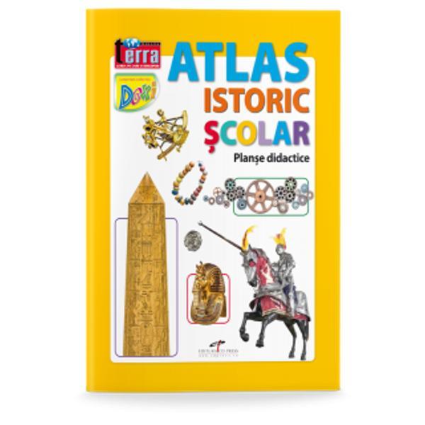 Atlasul este deosebit de util elevilor dar &537;i celor pasiona&539;i de istorie Con&539;ine planse didacticeAtlasul vine înso&539;it de orevista cadou