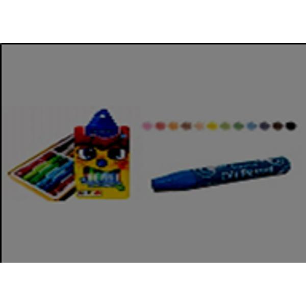 Creioane cerate colorate - Set de 12 culori - Diametru grif 100 mm - Lungime 750 mmNu sunt recomandate copiilorcu virsta sub 3 ani