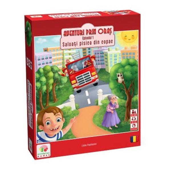 """In acest episod de""""Aventuri prin oras"""" conduci masina de pompieri prin oras pentru a ajunge cat mai repede sa o salvezi pe pisicuta dragalasa din copac Va trebui sa eviti diferitele obstacole pe care le intampini pe drumul tau spre pisicuta si sa te folosesti de cat mai multe scurtaturi posibile pentru a ajunge primul sa o salvezi astfel castigand jocul si fiind desemnat cel mai bun pompier """"Aventuri prin"""