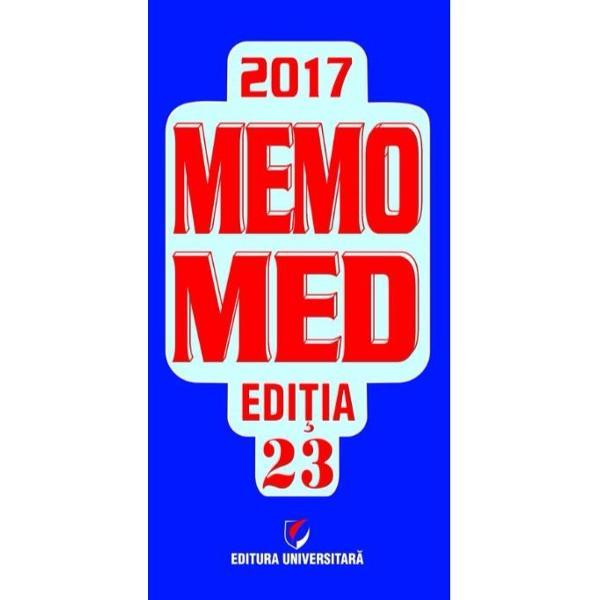 Memomed 2017 este recomandat atat medicilor si farmacistilor cat si celor interesati de cunoasterea celor mai noi informatii si practici terapeutice