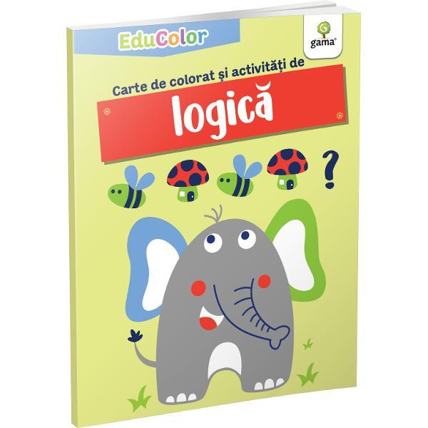 Cartea de colorat &537;i activit&259;&539;i de logic&259;urm&259;re&537;te dezvoltarea abilitatea copilului de a face deduc&539;ii logice &537;i de a rezolva probleme dar într-un mod amuzant care s&259;-l captivezeColec&539;ia EduColoreste destinat&259; pre&537;colarilor &537;i urm&259;re&537;te îmbinarea activit&259;&539;ilor de