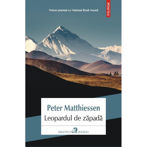 Volum premiat cu National Book AwardLeopardul de z&259;pad&259; volum cu care Peter Matthiessen a ob&355;inut prima oar&259; National Book Award este o relatare a c&259;l&259;toriei f&259;cute de el împreun&259; cu naturalistul George Schaller în Nepal în c&259;utarea faimoasei feline cu acest nume dar &351;i pentru a vizita Mîn&259;stirea de Cristal un centru spiritual budist din Himalaia Pasionat de filosofia zen