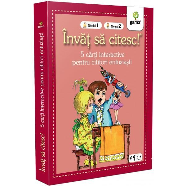 Pachetul Înv&259;&539; s&259; citesc - 5 c&259;r&539;i interactive pentru cititori entuzia&537;tieste destinat copiilor care &537;tiu s&259; citeasc&259; dar sunt la început de drum pentru ei fiecare poveste pe care o deslu&537;esc singuri este o victorie În interior ve&539;i g&259;si 4 c&259;r&539;i de nivelul 1 – în care textul este pres&259;rat cu