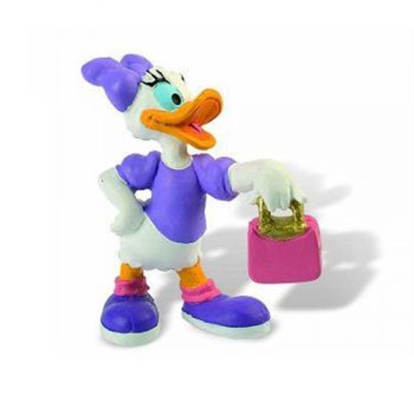 Figurina jucarie reprezentand personajul Daisy din animatia Mickey Mouse    Detalii foarte asemanatoare cu cele reale    Figurina are