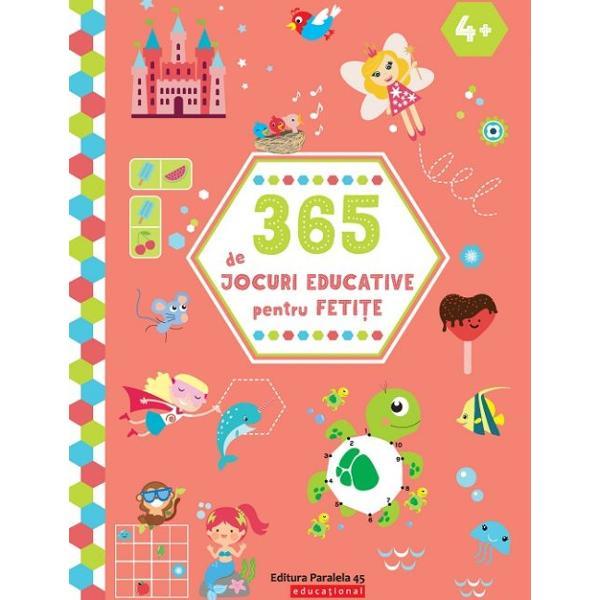 365 de jocuri educative pentru feti&539;e iste&539;e &537;i curioase Un an &238;ntreg de sudoku puzzle-uri labirinturi &537;i multe alte jocuri captivante &537;i distractive C&226;te o activitate de rezolvat cu pl&259;cere &238;n fiecare zi Distrac&539;ie pl&259;cut&259;