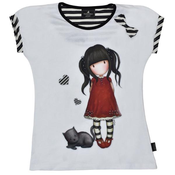 Tricou copii Gorjuss&160;Ruby este alegerea eleganta pentru micuta ta Alege azi cel mai frumos tricou Gorjuss pentru acest sezon de vara&160;Material - 100  bumbacCulori - alb rosu si negruMasuri - de la 6 ani