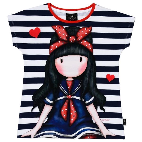 Tricou copii Gorjuss Little Fishes este alegerea ideala pentru o tinuta perfecta de vara Din 100  bumbac acest tricou va atrage toate privirile Alege un model inedit din gama Gorjuss pentru cele mai frumoase hainute