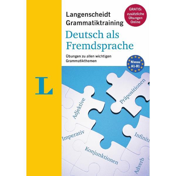Das kompakte Grammatiktraining Deutsch als Fremdsprache bietet viele Übungen mit alltagsnahen Beispielsätzen zu den wichtigsten Grammatikthemen Dank integriertem Lösungsteil kann das Gelernte einfach abgefragt werden So kommen Sie schnell grammatikalisch in Hochform