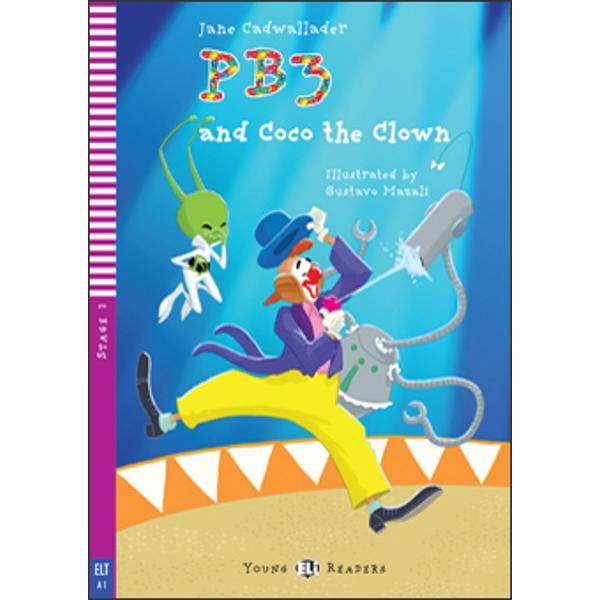PB3 and his robot are excited to find themselves in a circus Elephants and jugglers and an acrobat and a clown They go with Sally to have tea in Coco the clown's motorhome visit the circus school and finally the big top Little did they suspect that the excitement is just about to begin